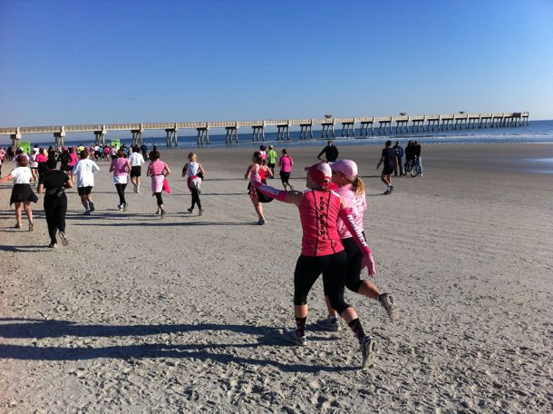run finish cancer breast to National