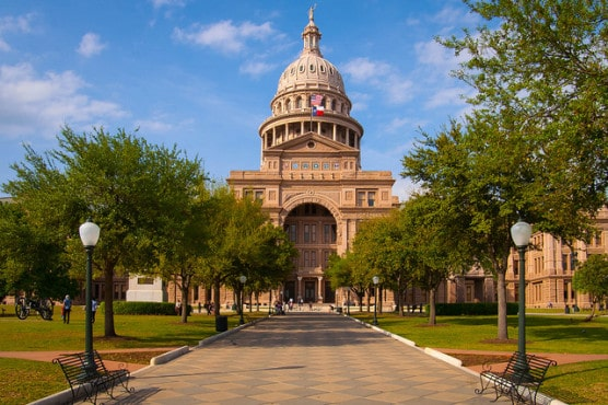 The Texas State Capitol building in Austin, near the race finish line. (Photo by Stuart Seeger/flickr)