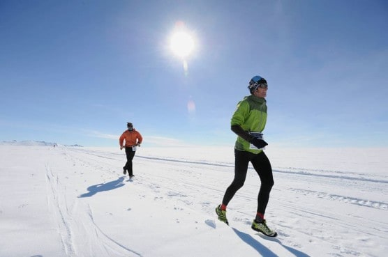 Runners in the 2013 Antarctica Frozen Continent Half Marathon. (Courtesy IceMarathon.com)