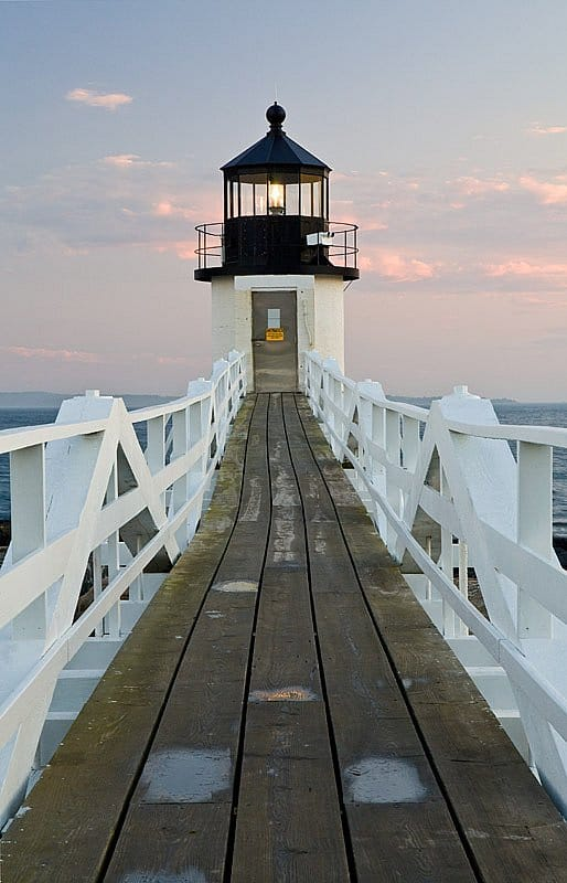 The Marshall Point Lighthouse near Port Clyde, Maine. (Photo by Traci/flickr)