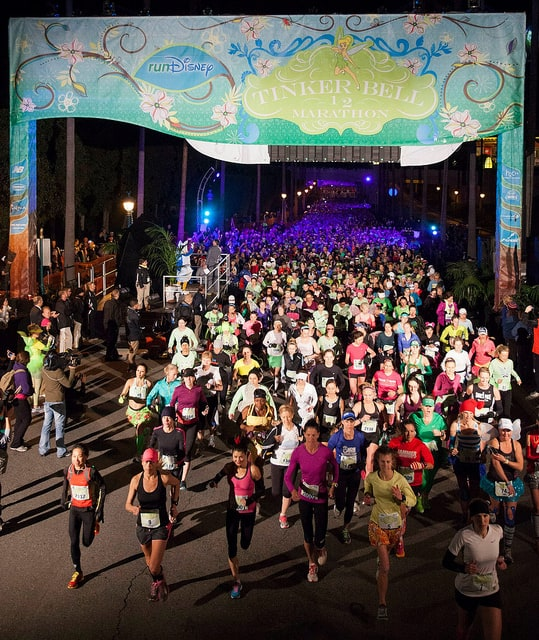 The start of the 2013 Disney Tinker Bell Half Marathon. (Photo by AngryJulieMonday/flickr)