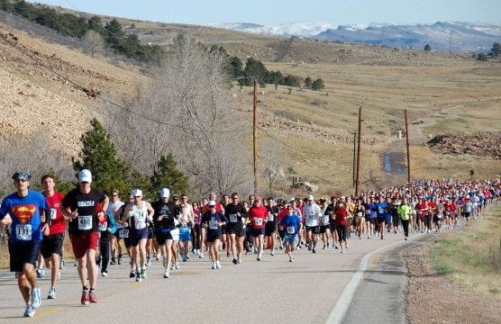 Runners in the Horsetooth Half Marathon. (Photo by 365 Days of Education)