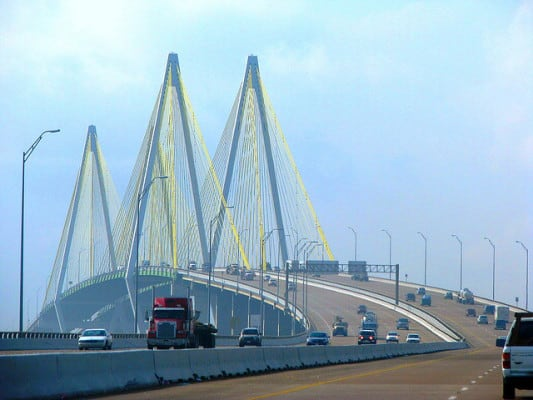 The Fred Hartman Bridge in Baytown, Texas. (Photo by Cortney Martin/flickr)
