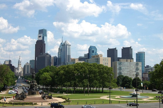 The view from the steps of the Philadelphia Art Museum, where the race finishes. (Photo by Rebecca Wilson/flickr)