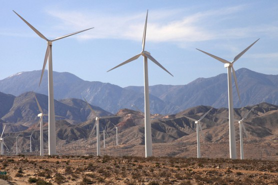 Windmills near Palm Springs, Calif. (Photo by Sam Howzit/flickr)