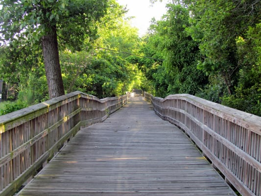 View of the trail along the Crabtree Creek Greenway in Raleigh, N.C. (Photo by bobistraveling/flickr)