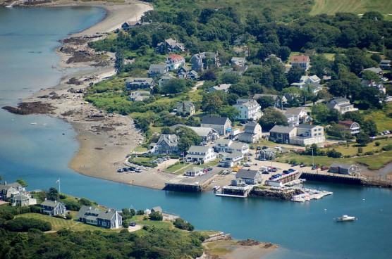 Biddeford Pool, Maine, as seen from the air. (Photo by Ian Bruce/flickr)