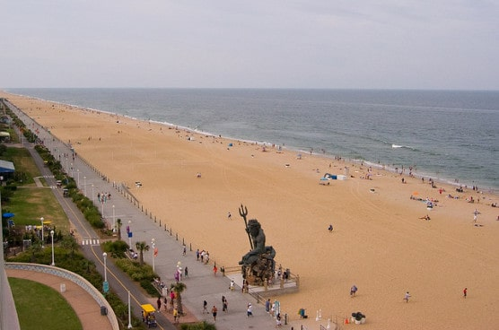 View of the King Neptune statue on Virginia Beach, Va. (Photo by Jason Pratt/flickr)