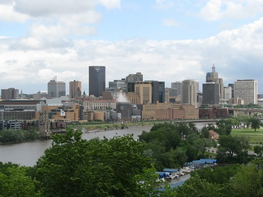 The downtown St. Paul, Minnesota skyline, as seen from the west side. (Photo by Cliff/flickr)