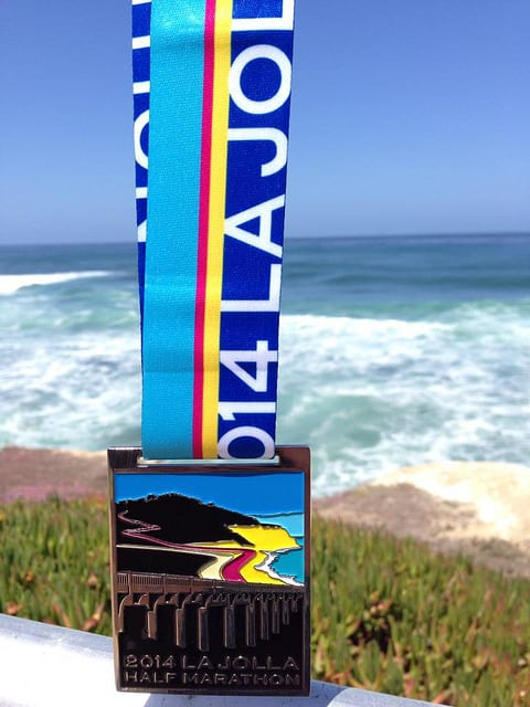 The 2014 La Jolla Half Marathon race medal. (Photo by Ewen Roberts/flickr)
