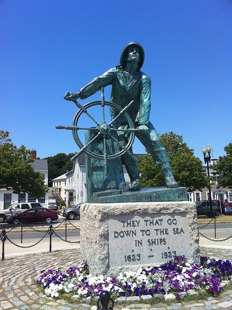 The Gloucester Fishermen's Memorial. (Photo by Ben Becker/flickr)