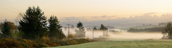 Foggy morning scene in Corvallis, Oregon, in December 2012. (Photo by Bill Young/flickr)