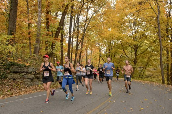 Out on the course at the 2015 race. (Photo courtesy Urban Bourbon Half Marathon)