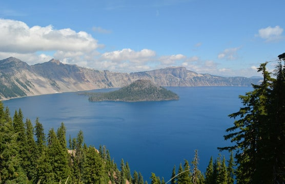 View of Crater Lake in Crater Lake National Park, Oregon. (Photo by Eric Sonstroem/flickr)