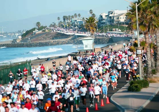 Runners take to the streets at the Carlsbad Marathon & Half Marathon. (Photo courtesy In Motion Events)