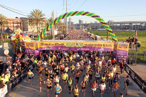 The start of the Rock 'n' Roll Mardi Gras Marathon in 2010. (Photo by ScubaBear68/flickr)