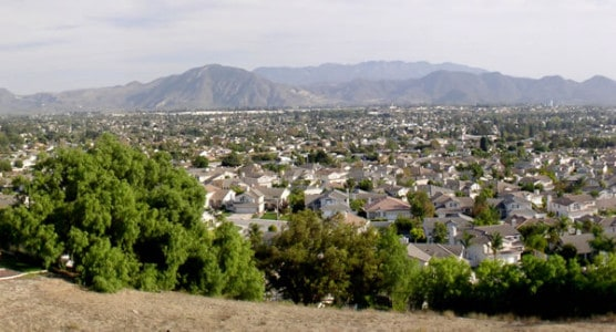 A panoramic view of Camarillo, Calif., as seen from a hillside. (Photo by Wikimedia)