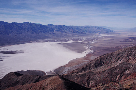 Badwater Basin from above, in Death Valley National Park. (Photo by paramita/flickr)