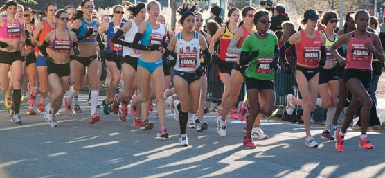 The 2012 Houston Marathon doubled as the Olympic trials for the marathon event in that summer's London Games. (Photo by Born_Hiker/flickr)