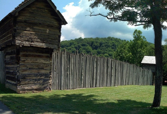 Reconstruction of Prickett's Fort. (Photo by Jeff Turner/flickr)