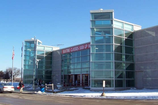 Outside the Pettit National Ice Center in Milwaukee, Wis. (Photo by Wikimedia)
