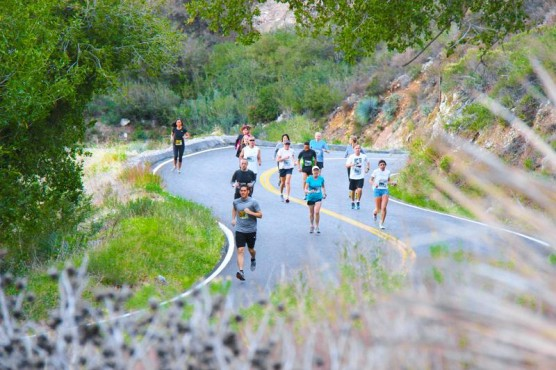 What the race route along Highway 39 will look like. (Photo courtesy Revel Canyon City Marathon)