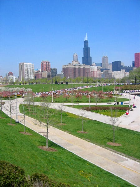 Grant Park near the Shedd Aquarium. (Photo by Rob Pongsajapan/flickr)