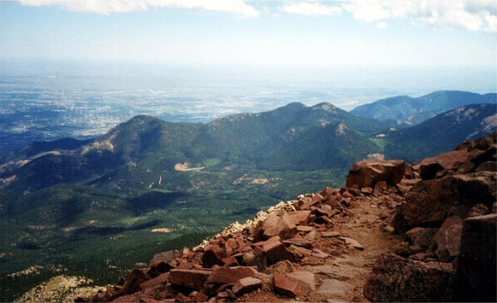 The view from Pikes Peak. (Photo by David Wilson/flickr)