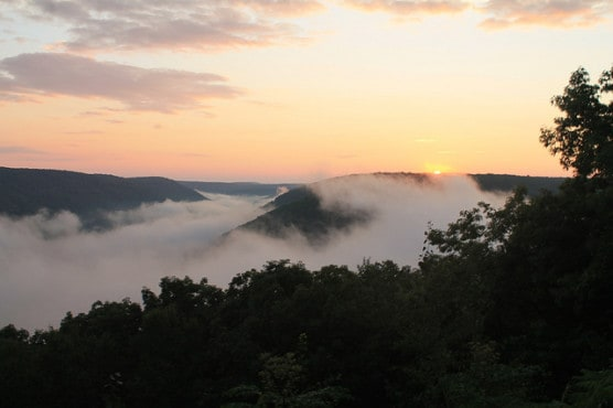 Fog over the Allegheny Reservoir in the Allegheny National Forest, Pa. (Photo by Andy Arthur/flickr)