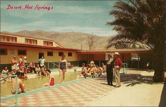 Vintage postcard of Desert Hot Springs, Calif. (Photo by 1950sUnlimited/flickr)
