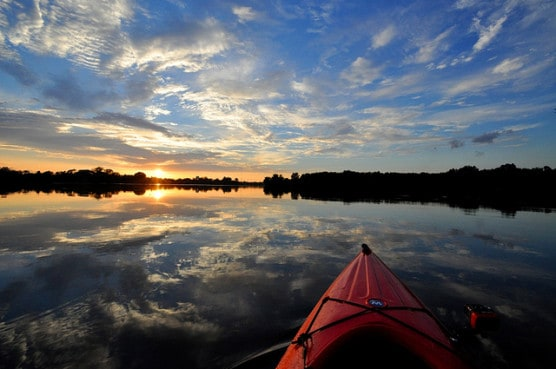 Kayaking at the LSU lakes in Baton Rouge, La. (Photo by Theodore Scott/flickr)