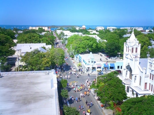 Duval Street in Old Town Key West, Florida. (Photo by Marc Averette/Wikimedia)