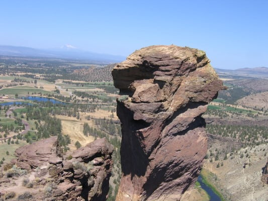 The Monkey Face in Smith Rock State Park, Oregon. (Photo by Alex McLane/flickr)
