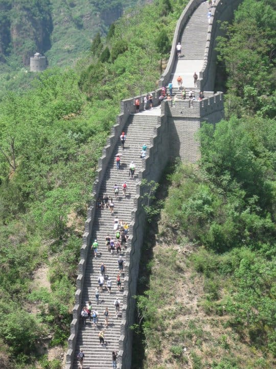 Runners on the Great Wall of China. (Photo by Mark Wegren)