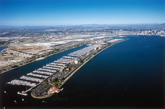 San Diego's Harbor Island. (Port of San Diego/flickr)