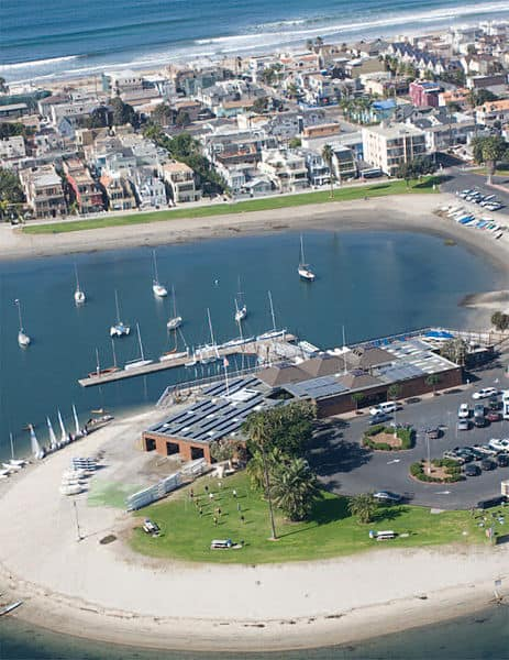 The Mission Bay Aquatic Center near San Diego, Calif. (Photo by Wikimedia)