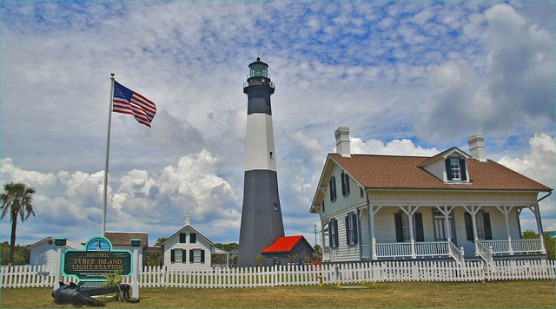 The historic Tybee Island Light Station. (Photo by Ron Cogswell/flickr)