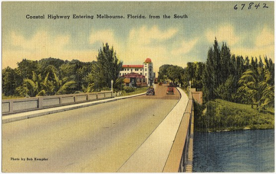 Vintage postcard of Melbourne, Fla. (Boston Public Library/flickr)