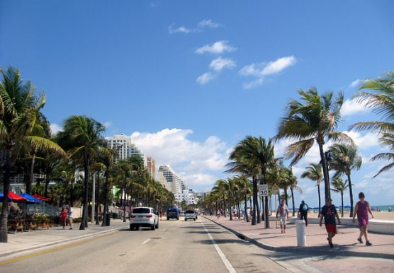 Fort Lauderdale Beach Boulevard, the stretch of A1A. (Photo by Jared/flickr)