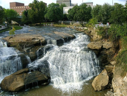 Reedy Falls in downtown Greenville, S.C. (Photo by Jason A G/flickr)