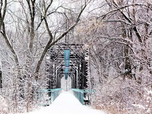 What the Kent Trails look like in wintertime. (Photo by Rachel Kramer/flickr)