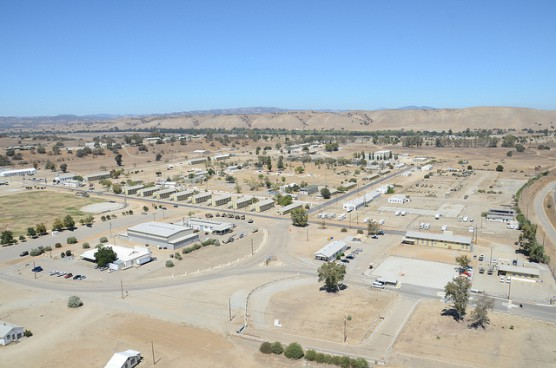 An aerial view of Camp Roberts, Calif., taken from a Blackhawk helicopter in August 2013. (Photo by California National Guard/flickr)