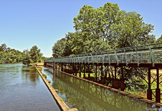 The Augusta Canal Pedestrian Bridge in Augusta, Ga. (Photo by Ryan Johnson/flickr)