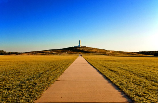 The Wright Brothers monument in Kitty Hawk, N.C. (Photo by Eric Anestad/flickr)