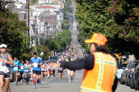 The 2014 San Francisco Marathon & Half Marathons in San Francisco, California. (Photo by Jun Seita/flickr)
