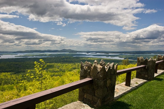 View of Lake Winnipesaukee from Castle in the Clouds, a mountaintop estate in nearby Moultonborough, N.H. (Photo by Roger H. Goun/flickr)