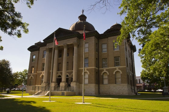 The historic Hays County Courthouse in San Marcos, Texas. (Photo by Stuart Seeger/flickr)