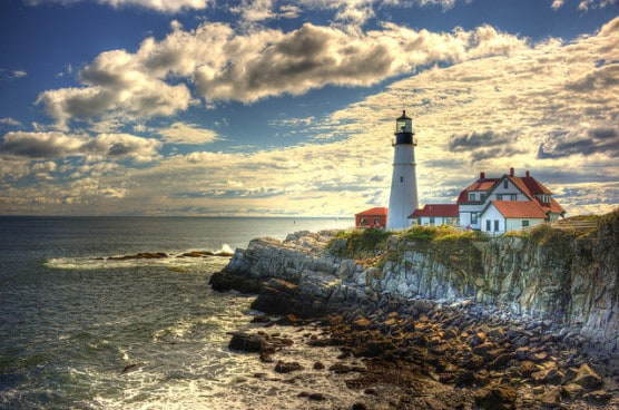The Portland Head Lighthouse in Portland, Maine. (Photo by Randy Pertiet/flickr)