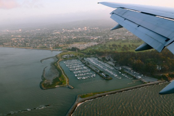 Aerial view of the Coyote Point Yacht Harbor in Burlingame, California. (Photo by Sharon Hahn Darlin/flickr)