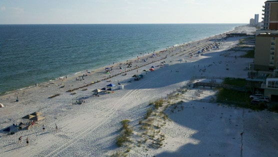 The beach at Gulf Shores, Alabama, in 2011. (Photo by Charles Hutchinson/flickr)